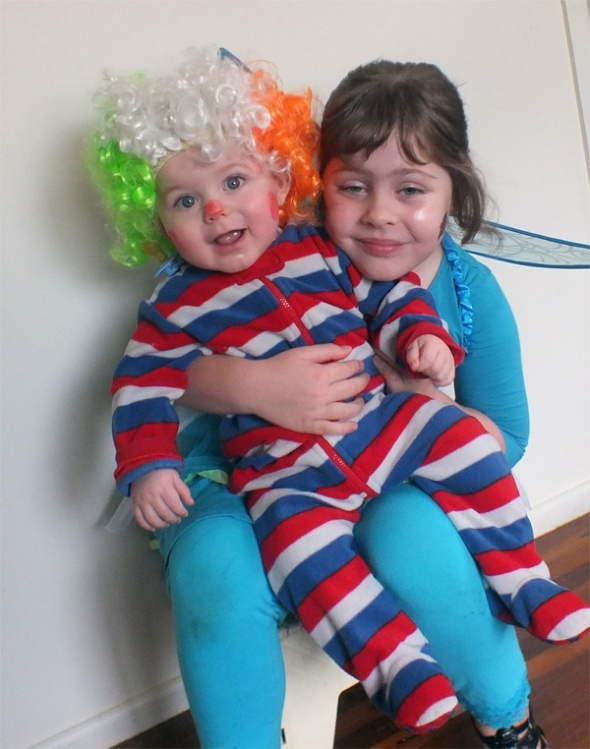 Jake the Clown and Silvermist the Fairy