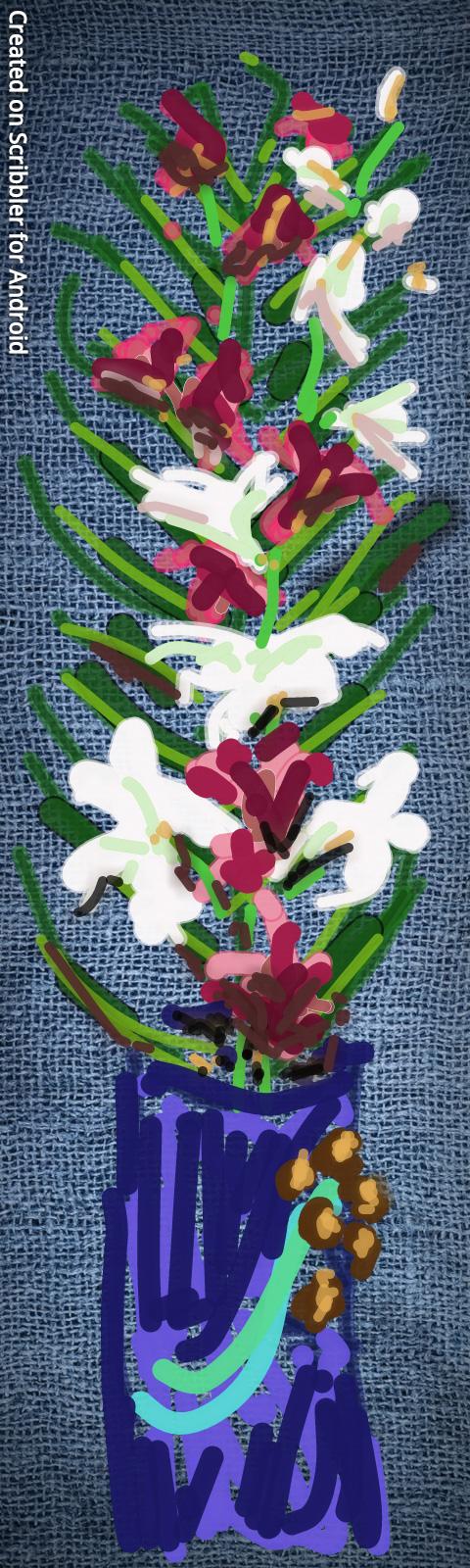 Orchids In Scribbler